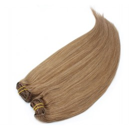 28 inch (70cm) Deluxe clip in human REMY hair - light brown