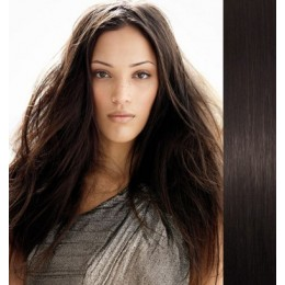 16 inch (40cm) Tape Hair / Tape IN human REMY hair - natural black