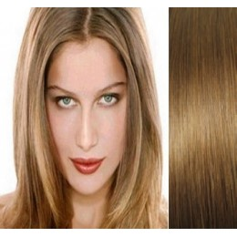 16 inch (40cm) Clip in human hair 100g - light brown