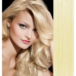 16 inch (40cm) Clip in human hair 100g - the lightest blonde