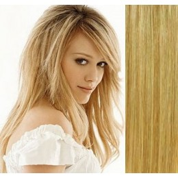 16 inch (40cm) Clip in human hair 100g - natural/light blonde