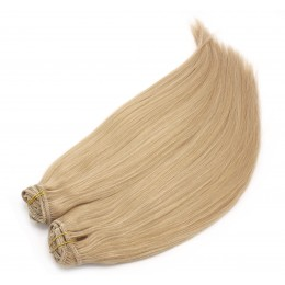 20 inch (50cm) Deluxe clip in human REMY hair - natural blonde
